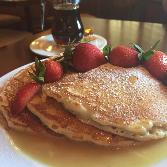 Lemon Ricotta Pancakes at the 1888 Restaurant in the Plaza Resort and Spa in Daytona Beach, FL