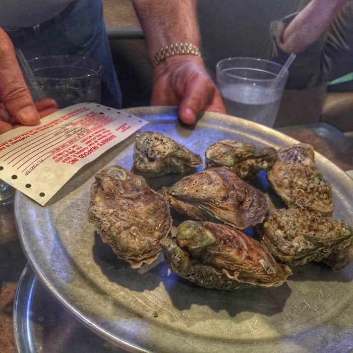 Chargrilled Oysters at The Oyster Pub Sports Bar & Grill in Daytona Beach, FL