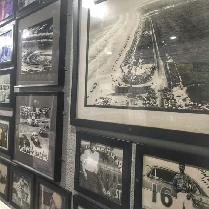 Racing memorabilia at Racing's North Turn Beach Bar & Grille in Daytona Beach, FL