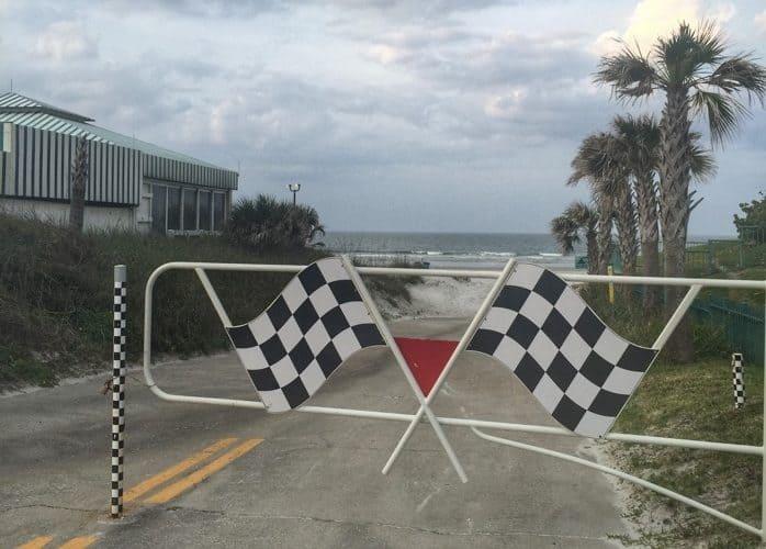 Race start at Racing's North Turn Beach Bar & Grille in Daytona Beach, FL