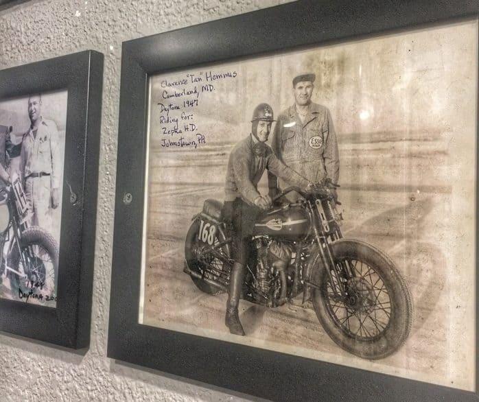 Racing memorabilia at Racing's North Turn Beach Bar & Grille in Daytona Beach, FL