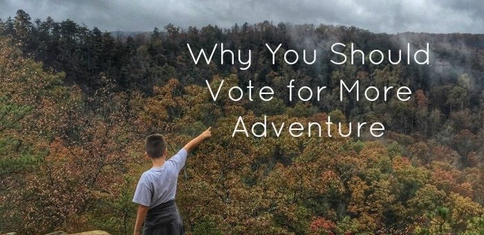 Why You Should Vote for More Adventure
