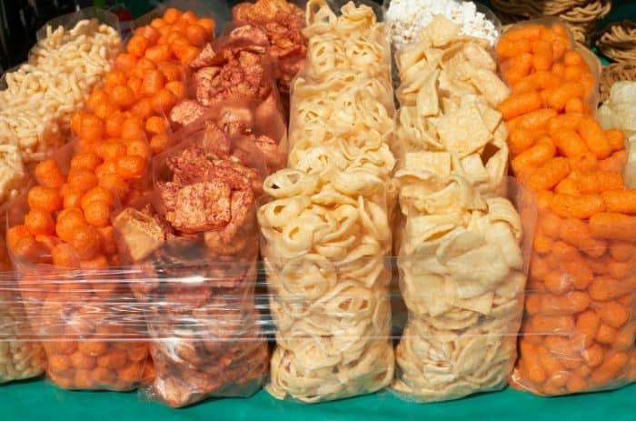 bags of snacks