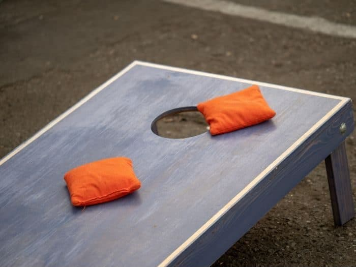 cornhole game bean bag toss game