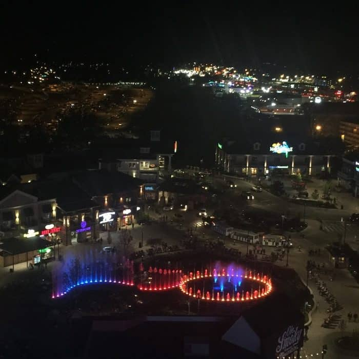 ferris wheel view The Island in Pigeon Forge
