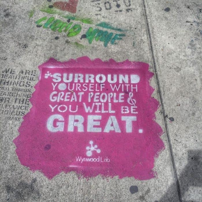 sidewalk grafitti