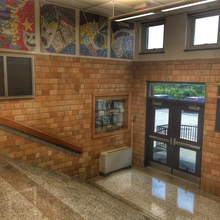 high school entryway