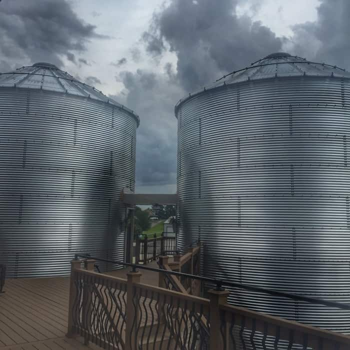 Patoka Lake Winery silos