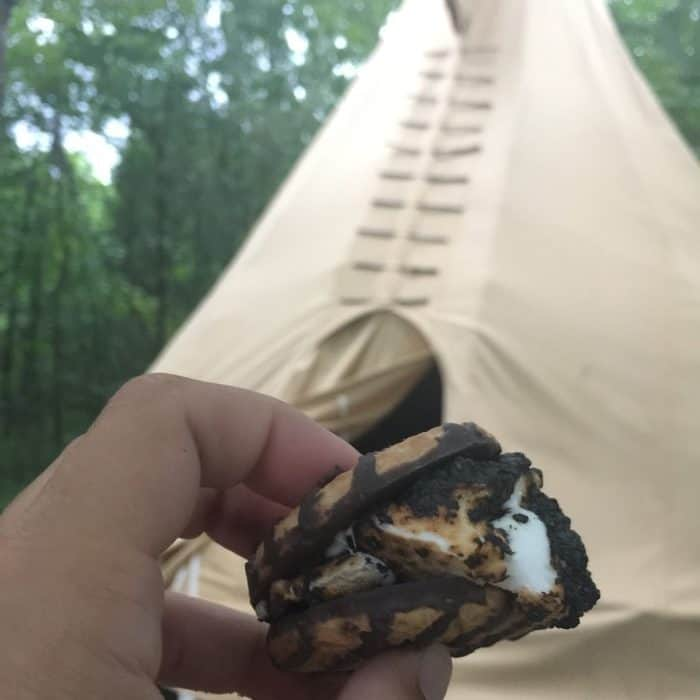Smores at Sleeping Bear Retreat
