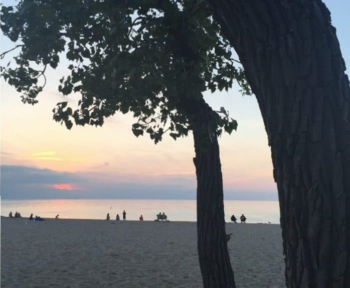 Sunset Indiana Dunes National Park