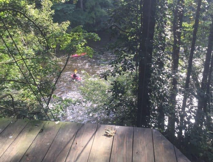 Rafting in the Smokies zipline