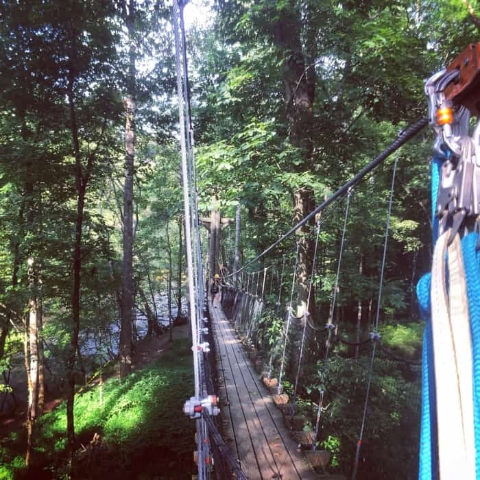 Rafting in the Smokies zipline
