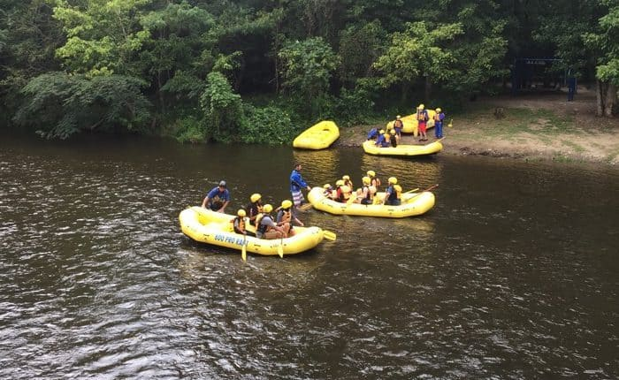 white water rafting in the Smokies lower river