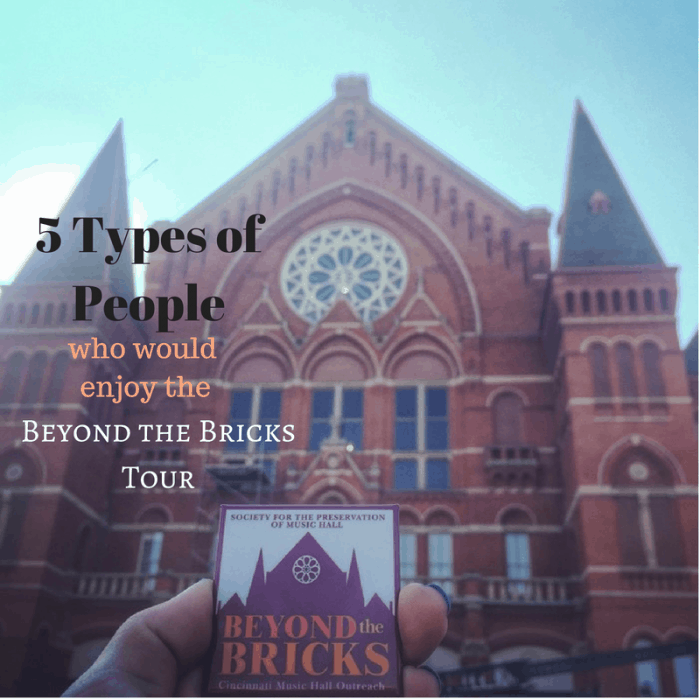 5 Types of People who would enjoy the Beyond the Bricks Tour