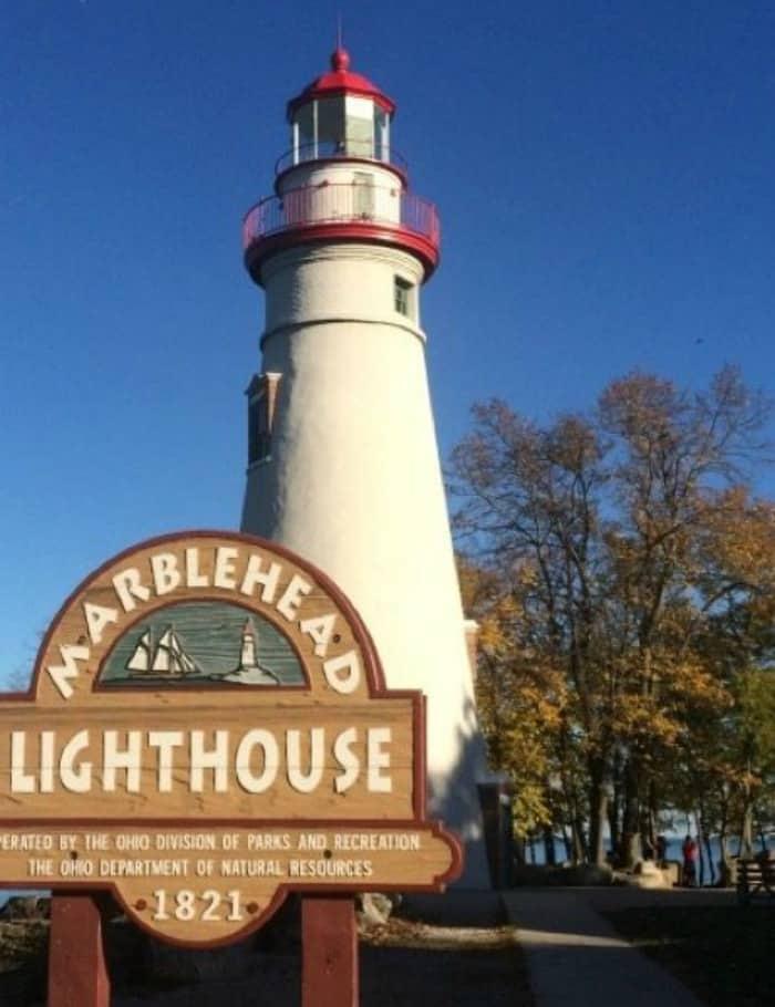 Lake Erie Shore in Ohio Fall Colors