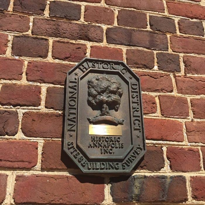 Downtown historic Annapolis Maryland