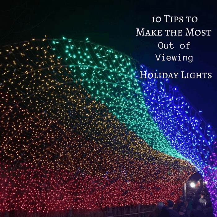 10 Tips to make the most of viewing Holiday lights