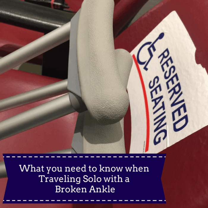 What you need to know when Traveling Solo with a Broken Ankle
