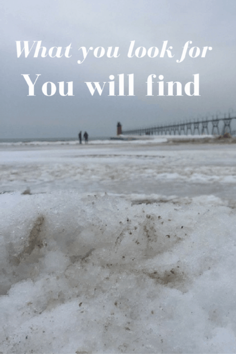 What you look for you will find