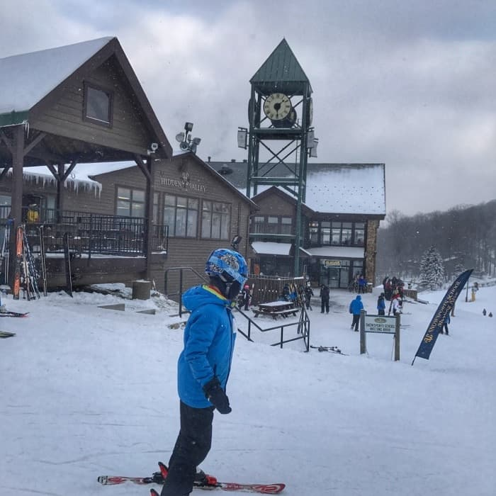 skier at Hidden Valley Resort in Pennsylvania