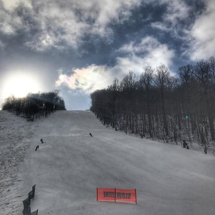 double black diamond at Laurel Mountain Ski Resort