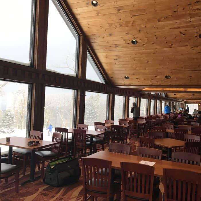 inside the lodge at Laurel Mountain Ski Resort