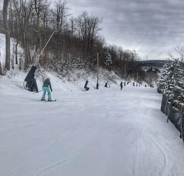 skier at Seven Springs Mountain Resort