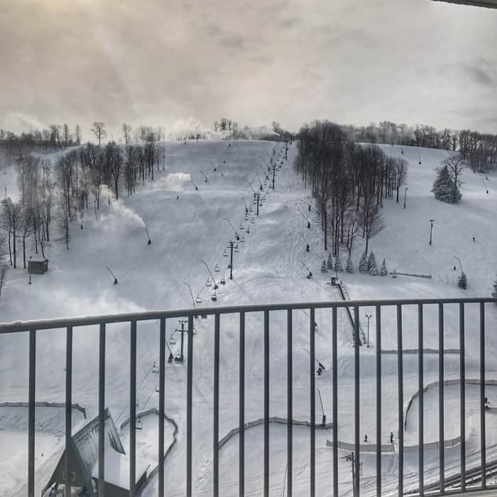 balcony view from Seven Springs Mountain Resort