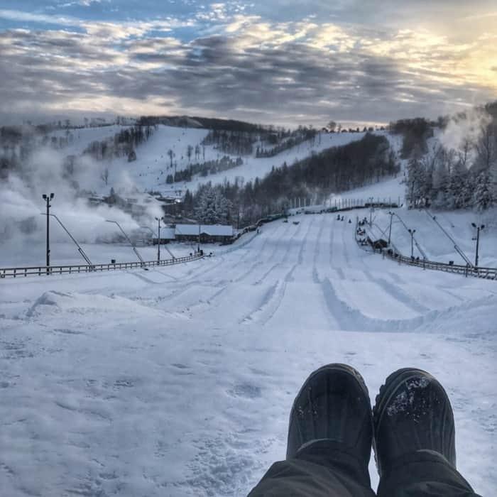 snow tubing at Seven Springs Mountain Resort