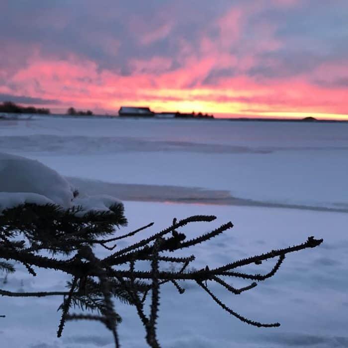 sunrise picture in Laurel Highlands