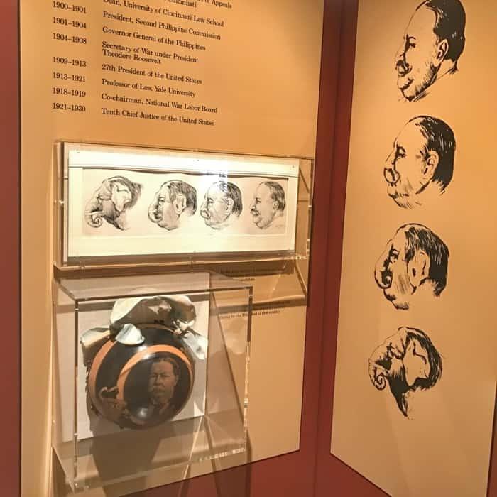 exhibit at William Howard Taft National Historic site
