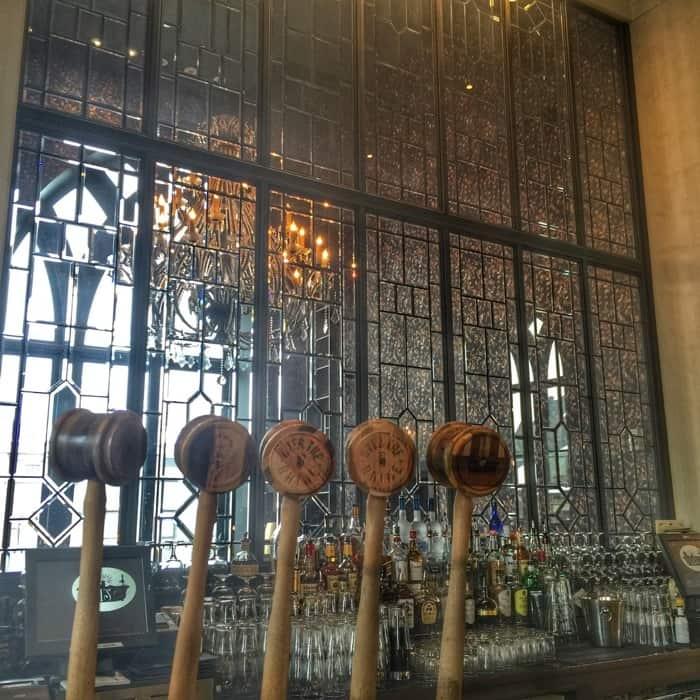 gavels at the bar Taft's Ale House in Cincinnati