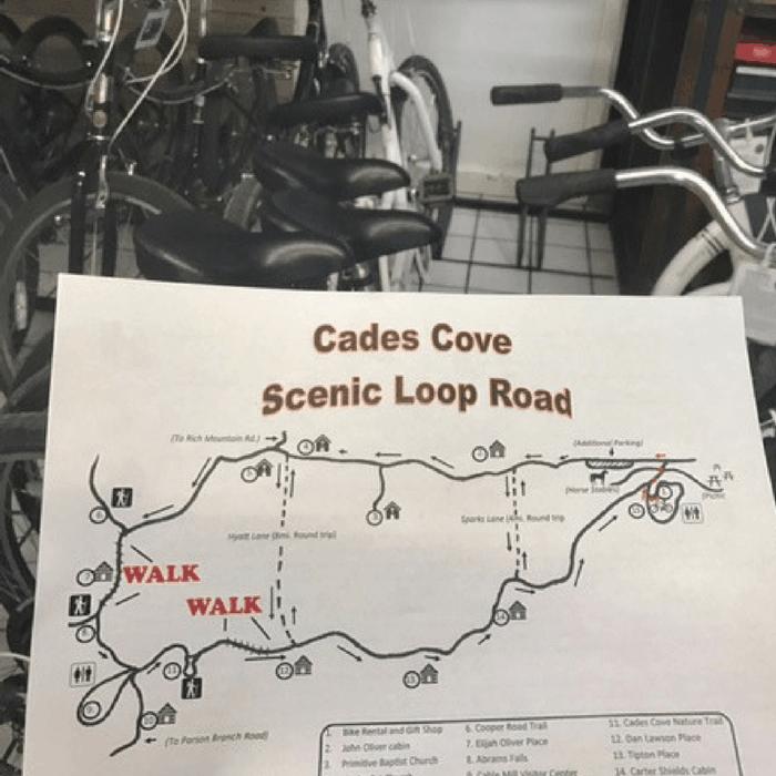 Cades Cove Map