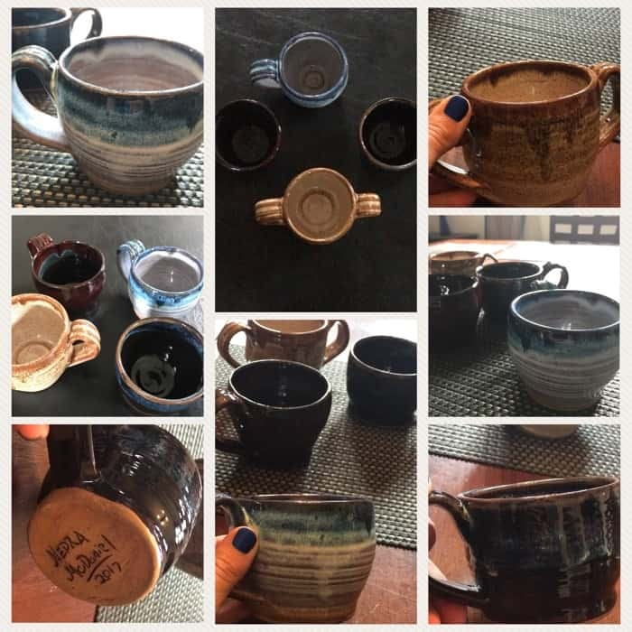 Mugs at Fowler's Clayworks (Gatlinburg- Great Smoky Mountains Arts and Crafts Community)