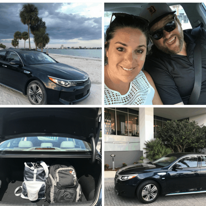 Test driving the KIA Optima PHEV in Clearwater, FL