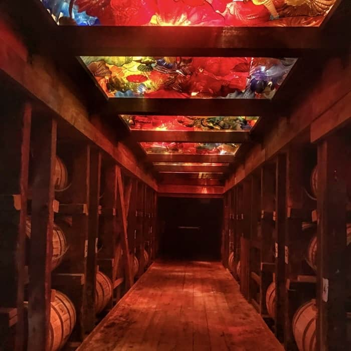 Chihuly glass at Makers Mark Distillery
