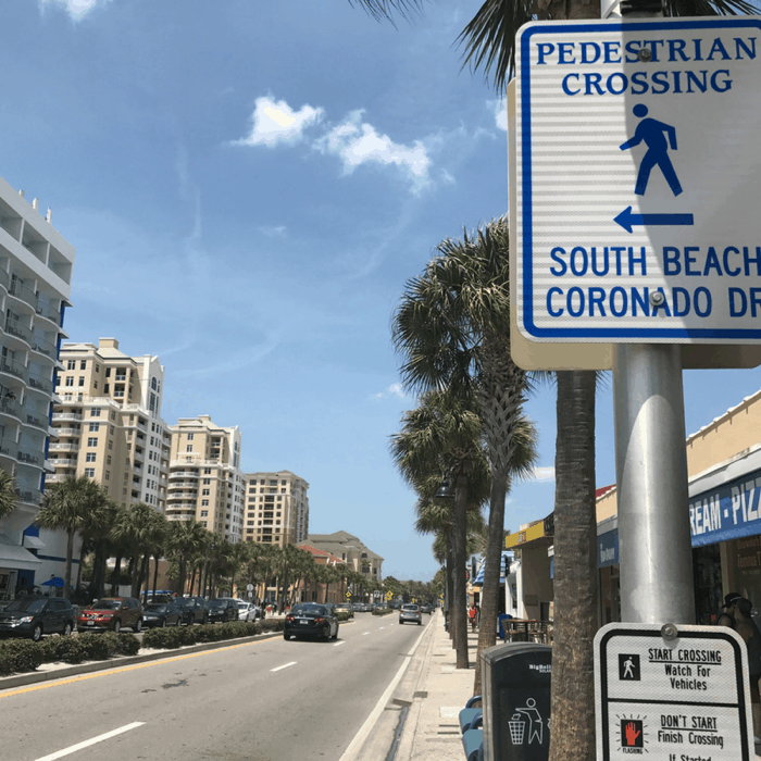 Use the crosswalks in Clearwater, FL to avoid jaywalking ticketing