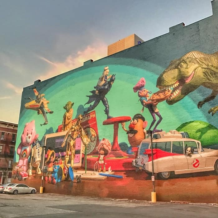 Cincinnati toy heritage mural in Cincinnati