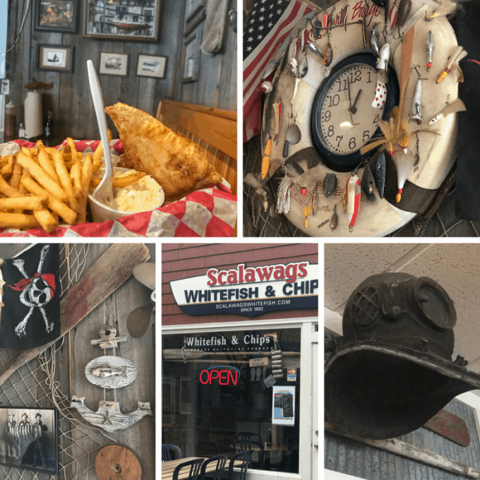 Scalawags Whitefish and Chips