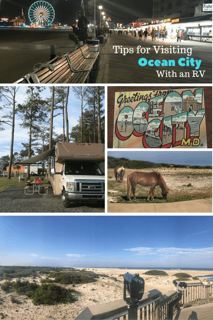 tips for visiting ocean city with an rv