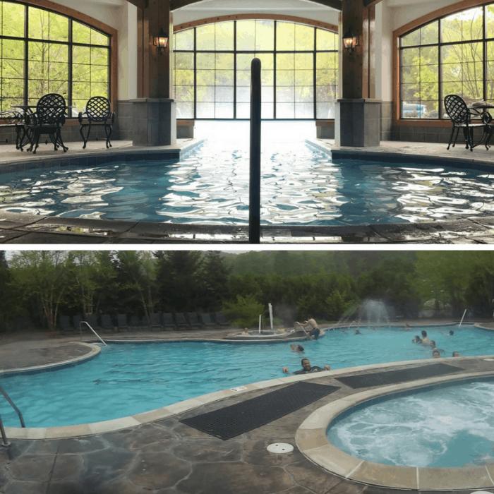 swimming pools at Boyne Mountain Resort