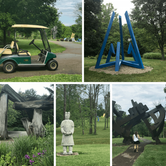 art cart at Pyramid Hill Sculpture Park