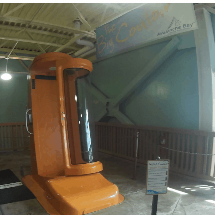 Big Couloir waterslide at Avalanche Bay Indoor Waterpark