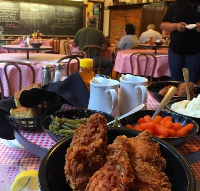 family style meal at The Schoolhouse Restaurant
