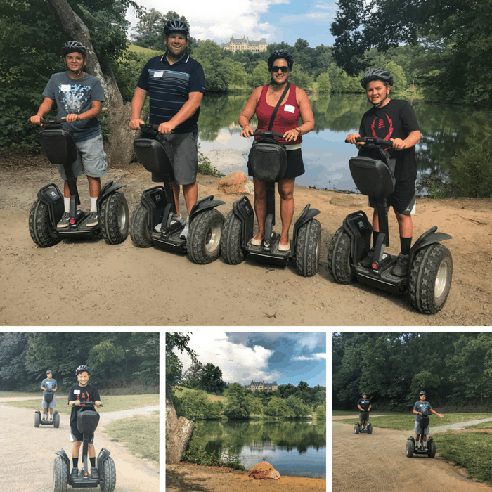 family segway tour of Antler Hill Village at The Biltmore Estate
