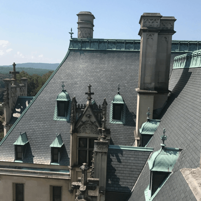 rooftop tour The Biltmore Estate in Asheville NC