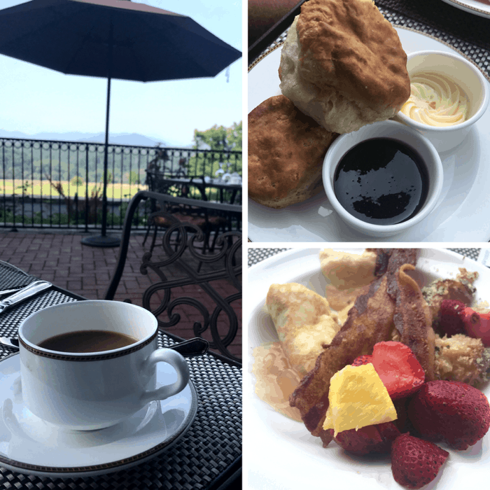 breakfast at The Biltmore Estate in Asheville NC