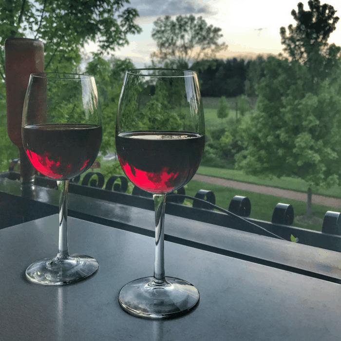 glasses of wine at Gervasi Vineyard