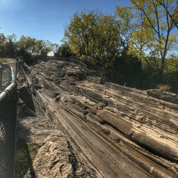 Glacial Grooves Geological Preserve on Kelleys Island in Ohio