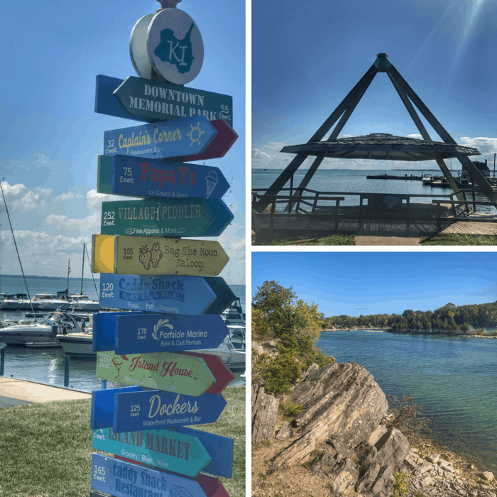 Signs at Kelleys Island